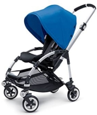 Blue Bugaboo Bee pushchair