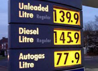 Fuel price banner
