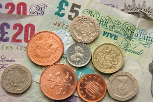 UK banknotes and coins
