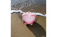Piggy in the surf, offshore savings