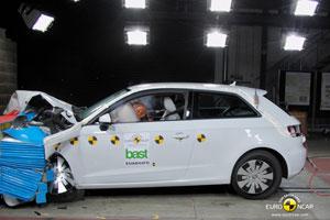 Audi A3 front crash