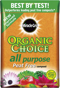 MIRACLE GRO ORGANIC CHOICE PEAT FREE