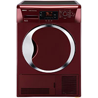 Red Beko tumble dryer