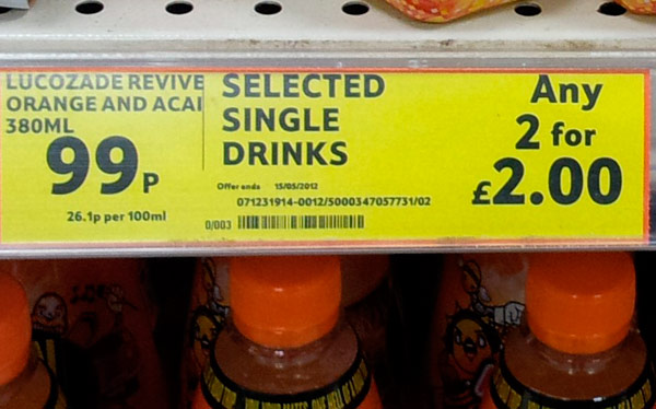 Tesco drinks