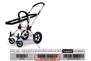Bugaboo Cameleon serial number