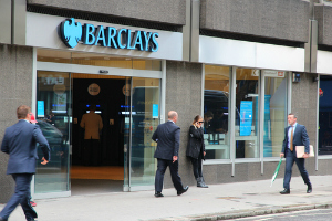 Barlays bank on the highstreet