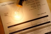 Energy bill and lightbulb