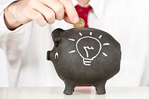 Money being put into a piggy bank