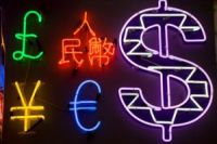 Foreign currency in neon