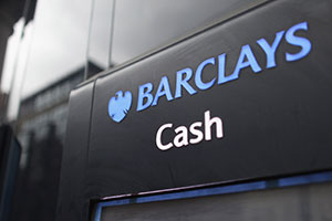 A Barclays bank ATM