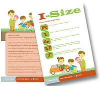 A picture of a leaflet explaining i-Size car seat regulations
