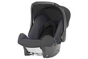 Black child's car seat