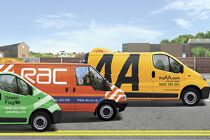 Car breakdown service provider vans