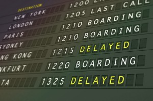Flight delay image