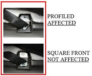 The affected different types of harness lock on play car seats