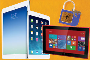 New iPads, Nokia Lumia 2520 and Sim-shaped padlock