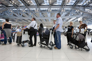 Passengers facing delayed at airports