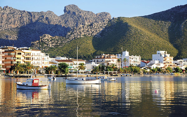 The waterfront at Port de Pollenca, Mallorca