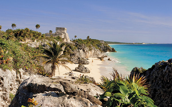 The Mayan ruins at Tulum, Yucatan, Mexico