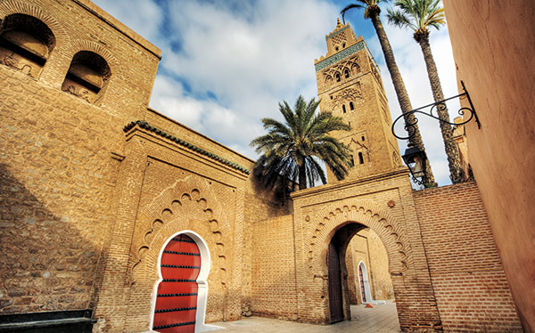 Morocco - Koutoubia mosque, the largest in Marrakesh.