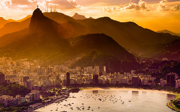 View of Rio De Janeiro, Brazil, venue for the World Cup 2014.