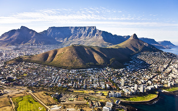 Aerial view of Cape Town (South Africa) which is the World Design Capital in 2014.