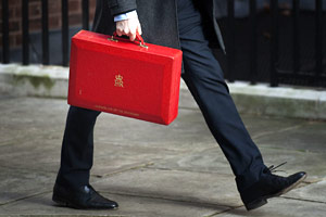 Chancellor's feet and budget case
