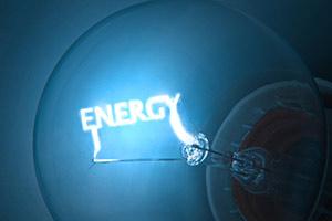 Energy written on inside of lightbulb