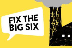 Fix the big six enerrgy companies campaign logo