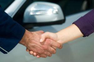 handshake by car
