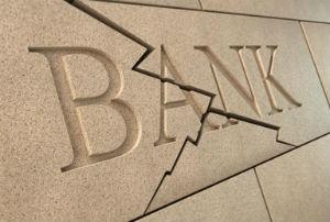 broken bank sign