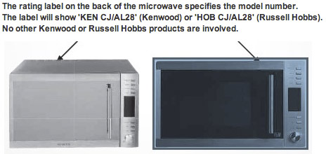 Kenwood and Russell Hobbs Combination Microwaves recall