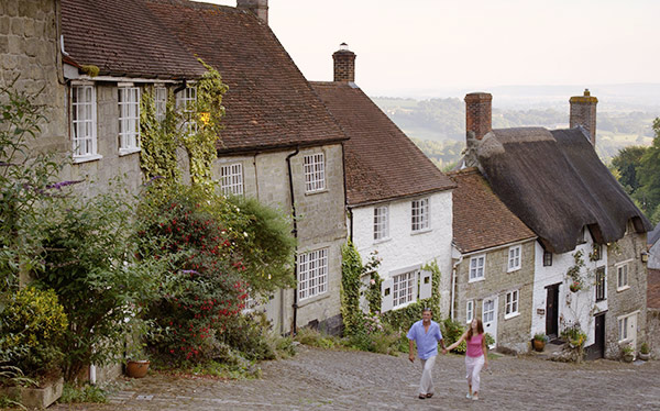 Walking up Gold Hill in Shaftesbury