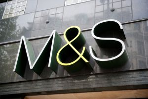 M&S logo on shop front