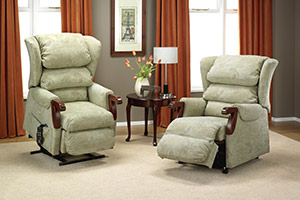 Two riser recliner chairs in a lounge