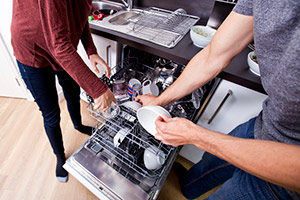 Using a dishwasher