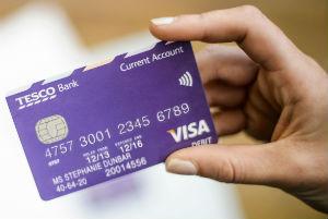 Purple Tesco Bank current account debit card