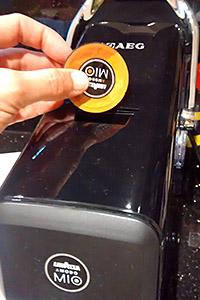 AEG Espria espresso machine with capsule
