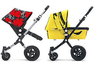 Colourful-pushchairs