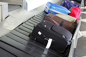 Luggage build up at airport