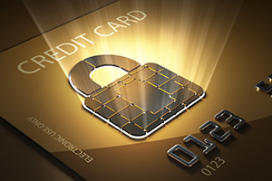 Credit card protection conceptual image