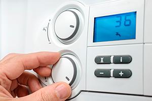 Boiler controls close-up