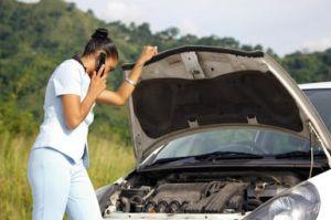 Woman phones insurer after car crash