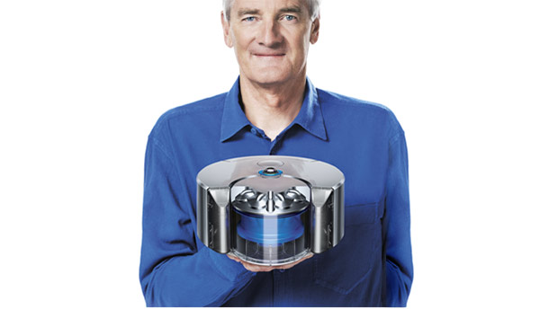 James Dyson with new robot
