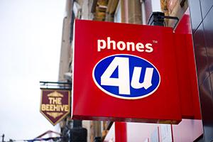 Phones4u shop sign