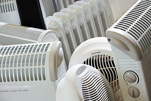 Portable fan heater