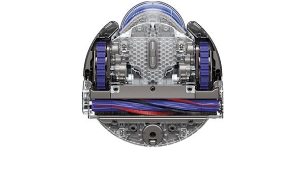 Underside of Dyson robot