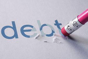Debt being erased