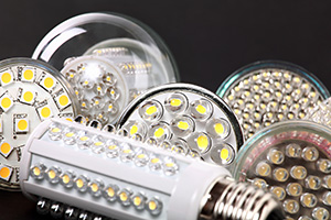 LED bulbs with chips