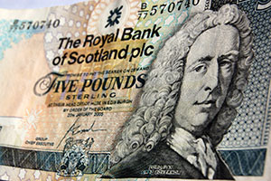 Scottish five pound note